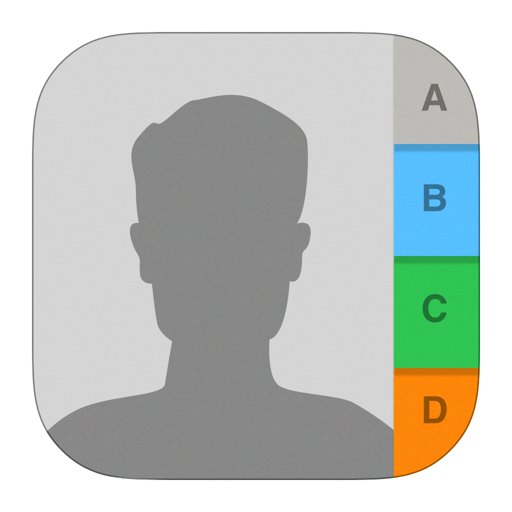 Image showing iOS contacts app icon