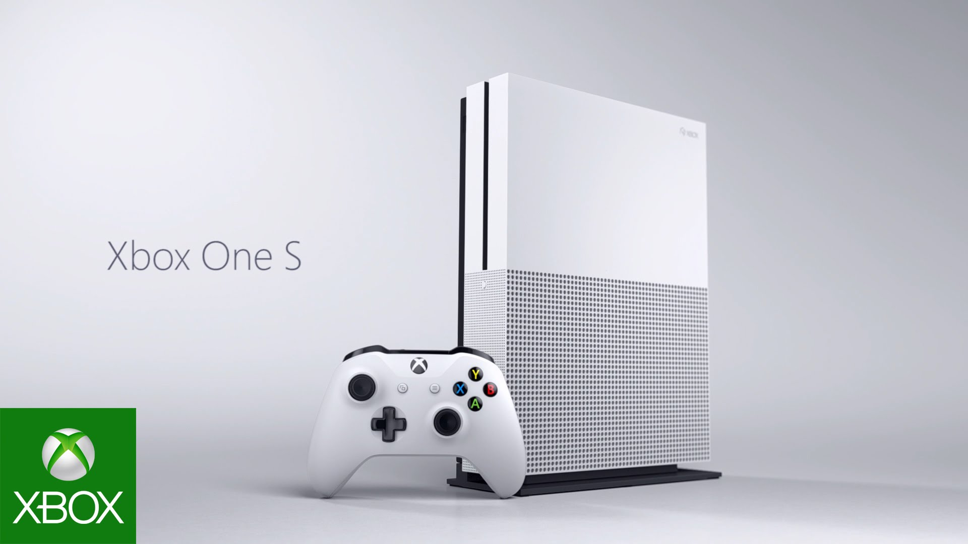 A picture of the xBox One S with controller.