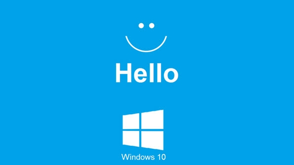 Windows Hello Logo with text of Windows Hello and Windows 10 logo