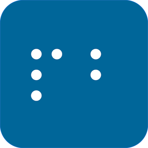 PocketBraille icon with letters P and B