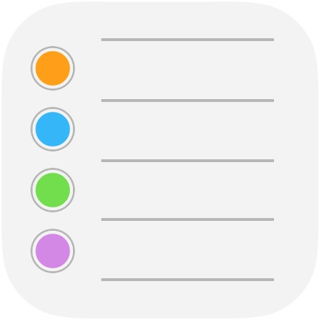Task management apps Reminders iOS icon