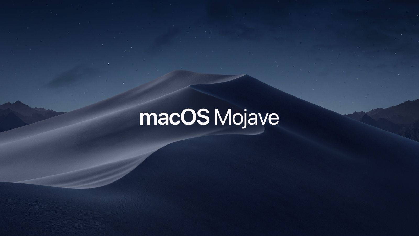 macOS Mojave night background