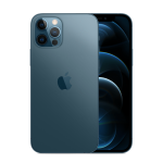 Front and back of new iPhone 12 Pro Pacific Blue